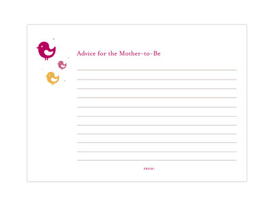 baby shower advice cards favor creative