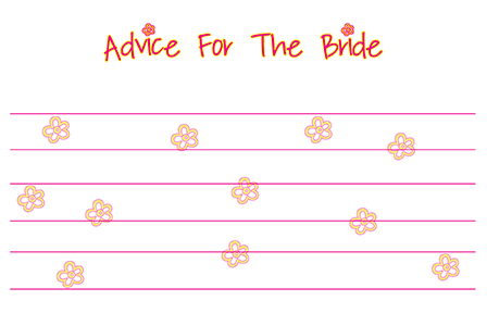 Bridal Shower Advice Card | Happy Bride