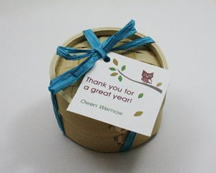 Organic Loose Tea Favor with Gift Tag by Favor Creative