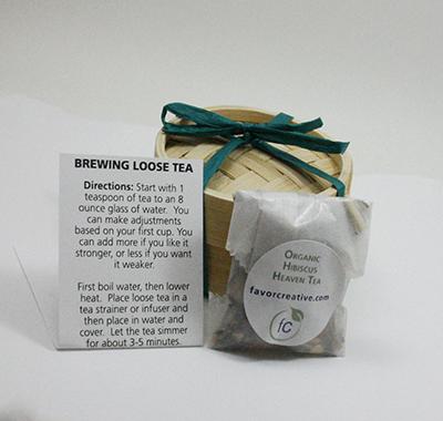 Eco Wedding Favors | Organic Hibiscus Heaven Tea
