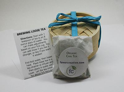 Eco Wedding Favors | Organic Chai Tea