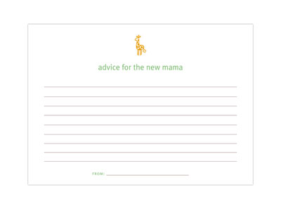 Baby Shower Advice Cards | Favor Creative