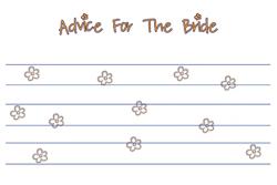 Bridal Shower Advice Card | Happy Bride